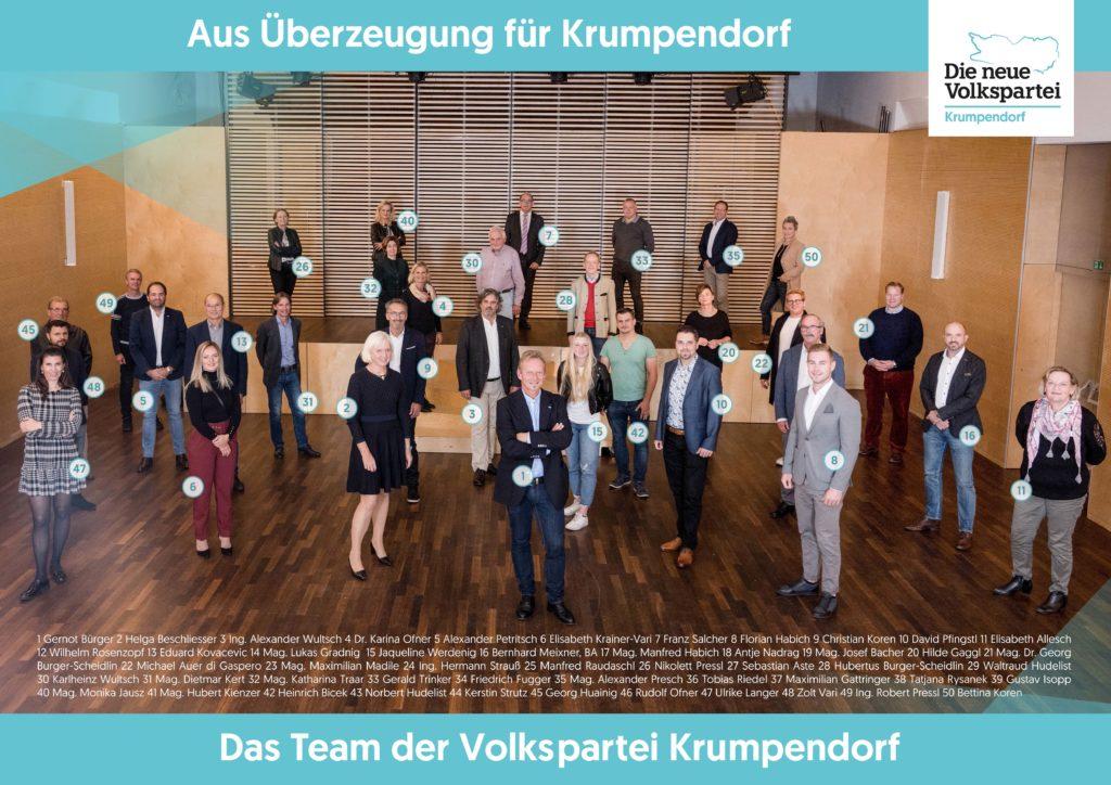 Foto des Teams im Kursaal der Gemeinde Krumpendorf